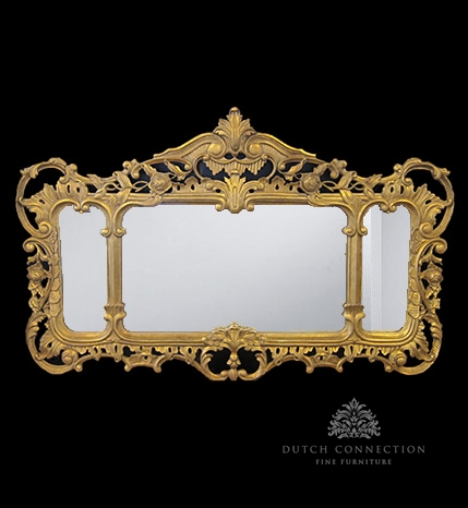 Ornate gold mirror gold carved mirror 128cm x 80cm for Mirror 80cm wide