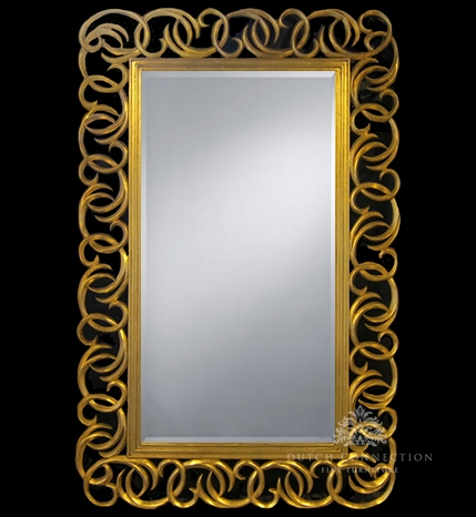 Large ornate gold mirror large gold mirror 220cm x 142cm for Miroir 130 x 40