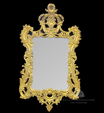 Large ornate gold mirror heavily carved gold mirror 90cm for Miroir 90 x 40