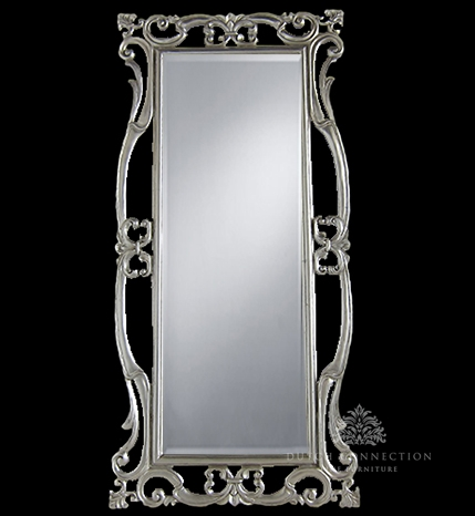 Carved silver mirror silver carved mirror 90cm x 190cm for Miroir 90 x 40